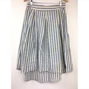 Max Studio Hi Low Box Pleat Skirt